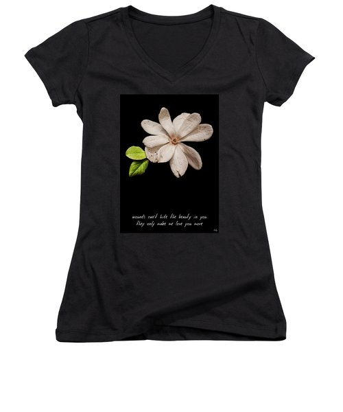 Wounds Cannot Hide The Beauty In You Women's V-Neck T-Shirt