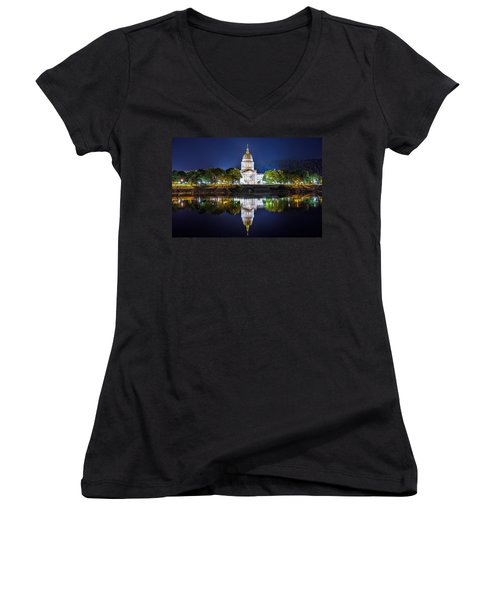 Wv Capitol Women's V-Neck (Athletic Fit)