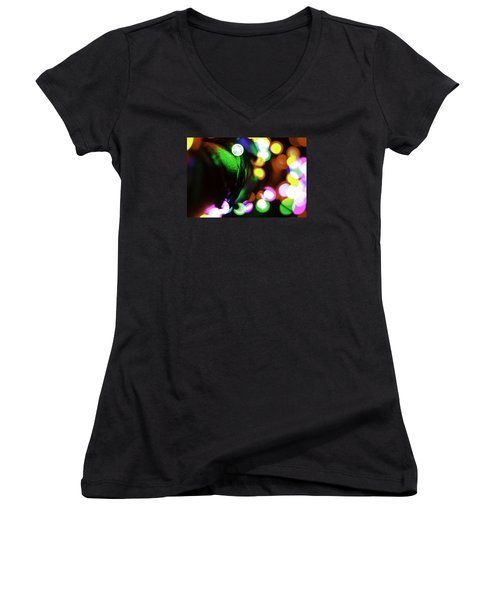 Xmas Lite Women's V-Neck T-Shirt