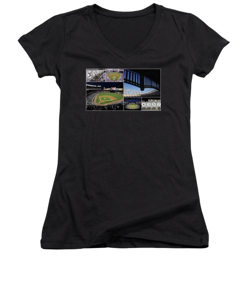 Yankee Stadium Collage Women's V-Neck