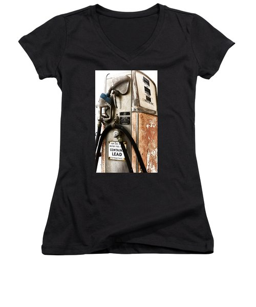 Ye Old Pump Women's V-Neck T-Shirt (Junior Cut) by Caitlyn  Grasso