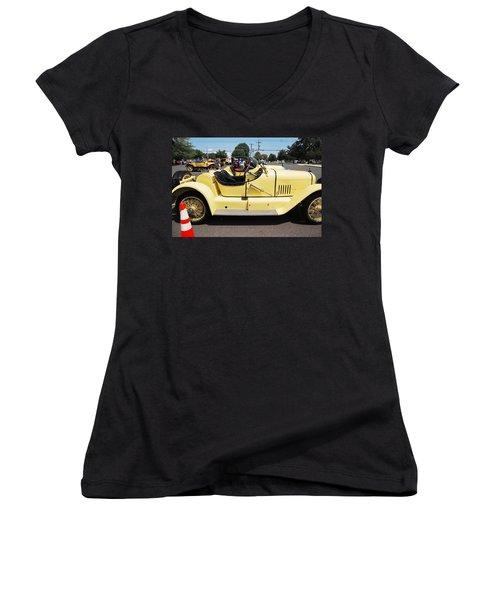 Yellow Mercer Women's V-Neck T-Shirt