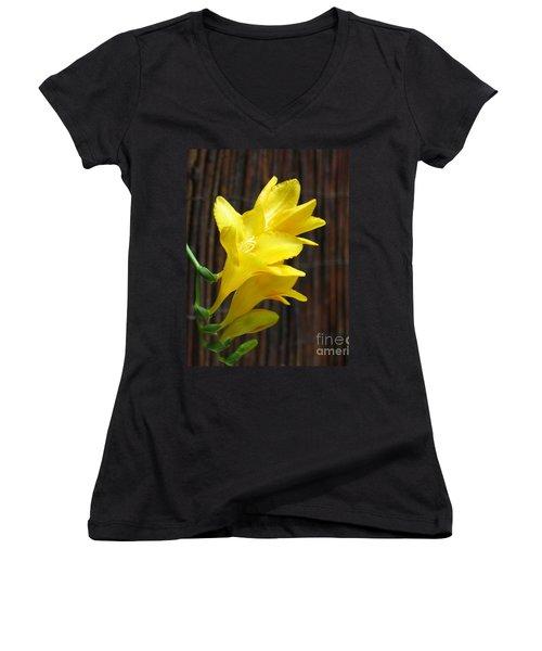 Yellow Petals Women's V-Neck