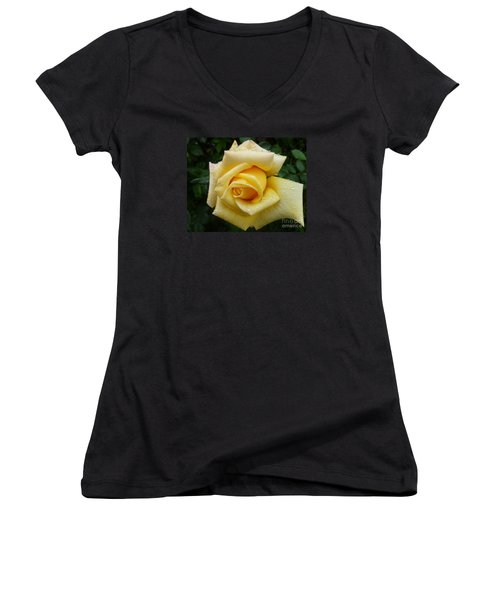 Yellow Rose Say Goodbye Women's V-Neck (Athletic Fit)