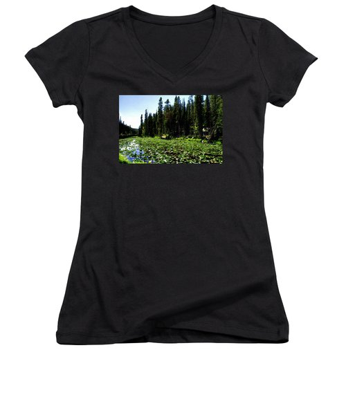 Yellowstone Lily Pads  Women's V-Neck