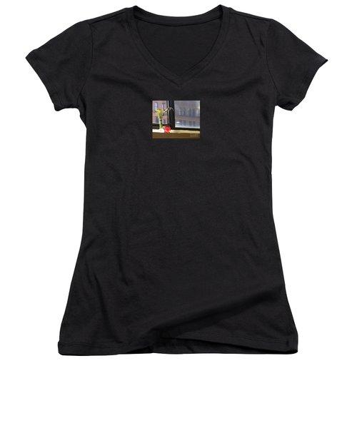 Yoga In The Sun Women's V-Neck T-Shirt