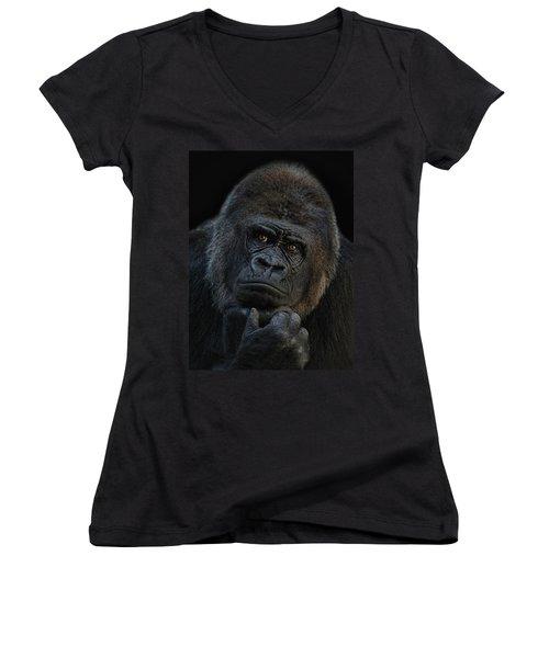 You Ain T Seen Nothing Yet Women's V-Neck T-Shirt (Junior Cut) by Joachim G Pinkawa