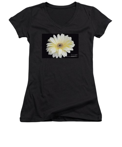 Women's V-Neck T-Shirt (Junior Cut) featuring the photograph You Are Loved by Jeannie Rhode