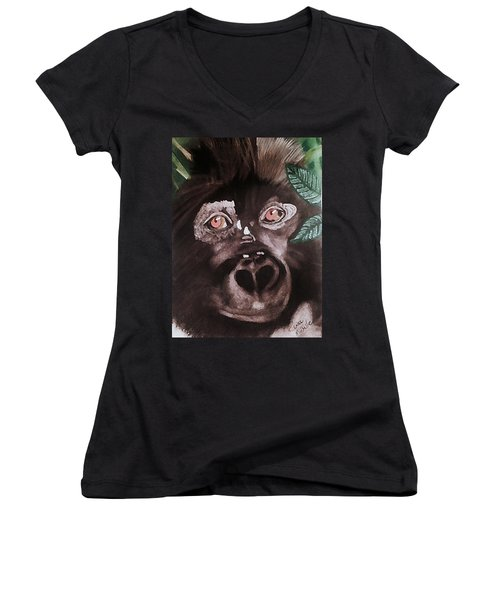 Young Gorilla Women's V-Neck (Athletic Fit)