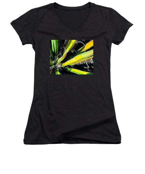 Yucca Spirals Women's V-Neck (Athletic Fit)
