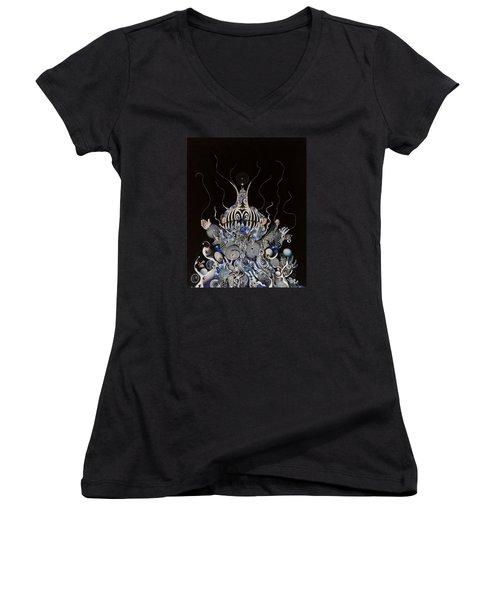 Zebratiki Women's V-Neck T-Shirt