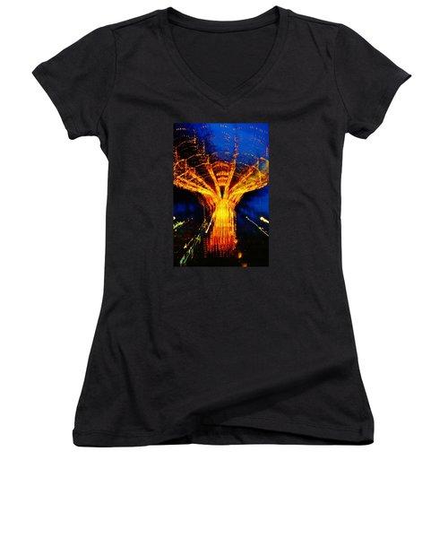 Zeus Women's V-Neck T-Shirt (Junior Cut) by Daniel Thompson