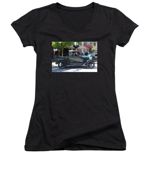 29 Ford Pickup Women's V-Neck T-Shirt (Junior Cut) by Ansel Price