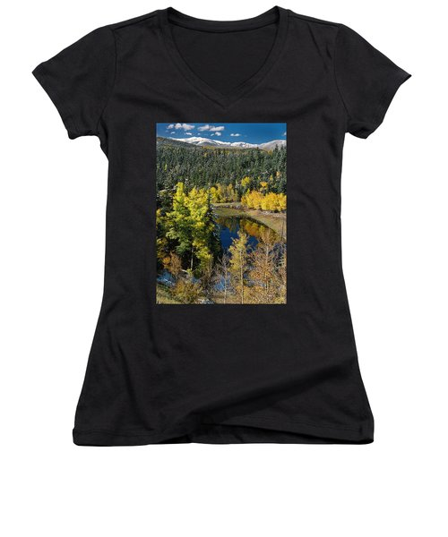 Fall Color On Bobcat Pass Women's V-Neck (Athletic Fit)