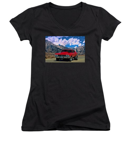 1968 Chevelle Super Sport Women's V-Neck T-Shirt