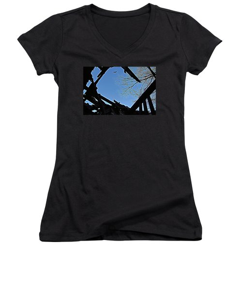 Above It Women's V-Neck (Athletic Fit)