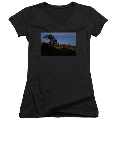 Arches National Park Women's V-Neck (Athletic Fit)