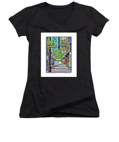 Downtown Willoughby Women's V-Neck (Athletic Fit)