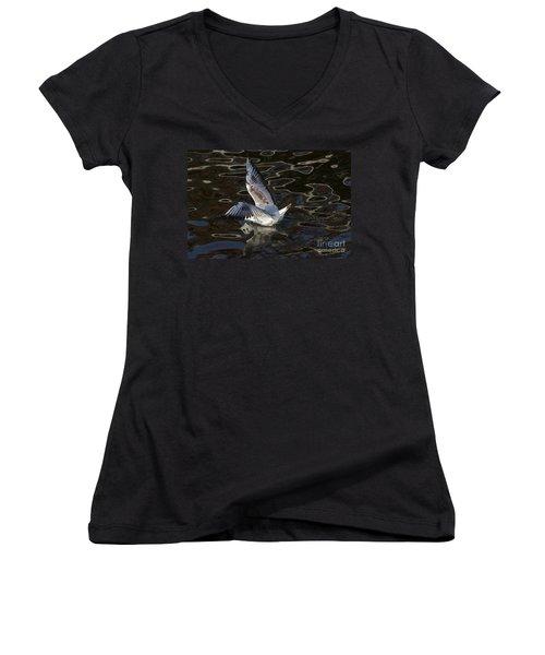 Head Under Water Women's V-Neck T-Shirt