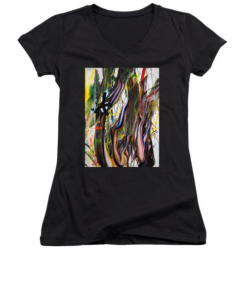 Innocent Bones Women's V-Neck T-Shirt (Junior Cut) by Sheridan Furrer