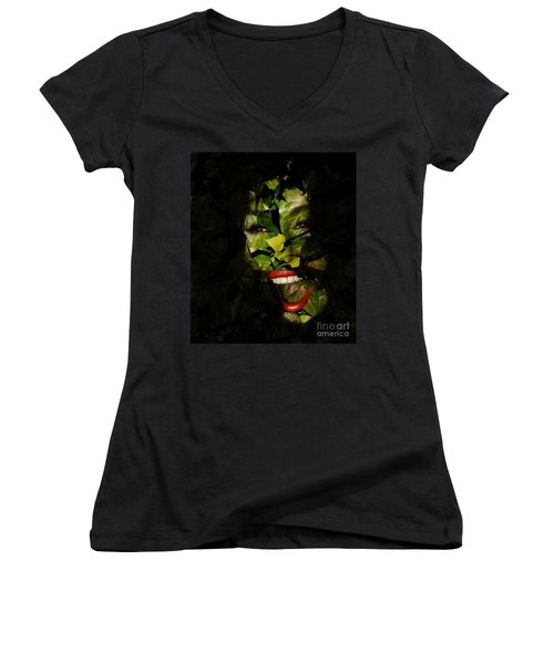 Women's V-Neck T-Shirt (Junior Cut) featuring the photograph Ivy Glamour by Clayton Bruster