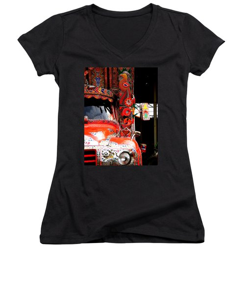 Jingly Truck Women's V-Neck (Athletic Fit)