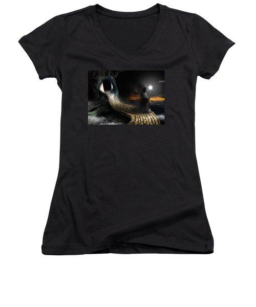 Night Guard Women's V-Neck T-Shirt