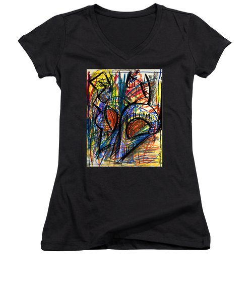 Picasso Women's V-Neck T-Shirt (Junior Cut) by Sheridan Furrer