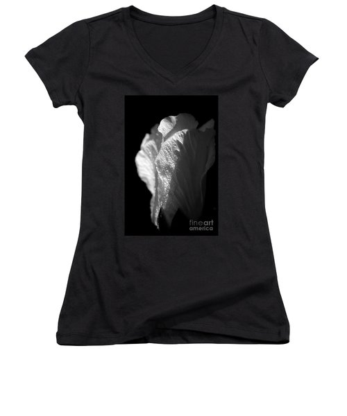 Women's V-Neck T-Shirt (Junior Cut) featuring the photograph Rose Of Sharon by Jeannette Hunt