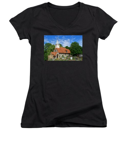 St Laurence Church Cowley Middlesex Women's V-Neck T-Shirt