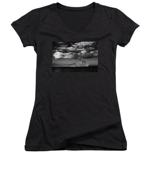 Uss Fort Mchenry Women's V-Neck T-Shirt