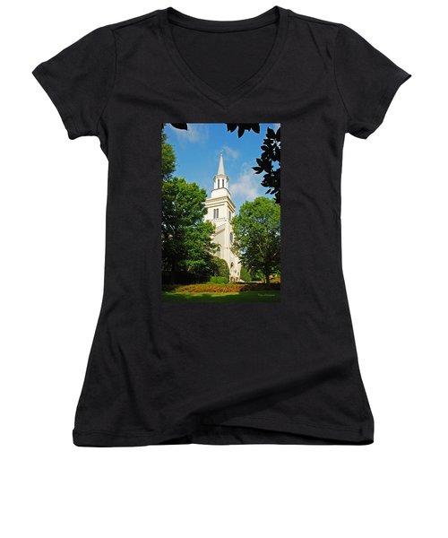 1st Presbyterian Church Women's V-Neck T-Shirt