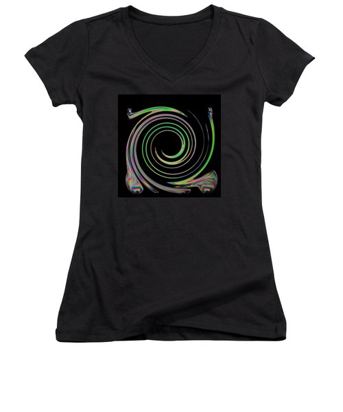 Women's V-Neck T-Shirt (Junior Cut) featuring the photograph Electric Cutlery by Steve Purnell