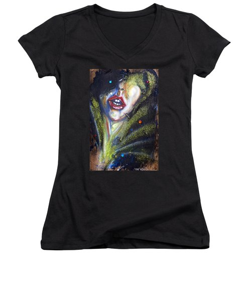 Isis Women's V-Neck T-Shirt (Junior Cut) by Sheridan Furrer