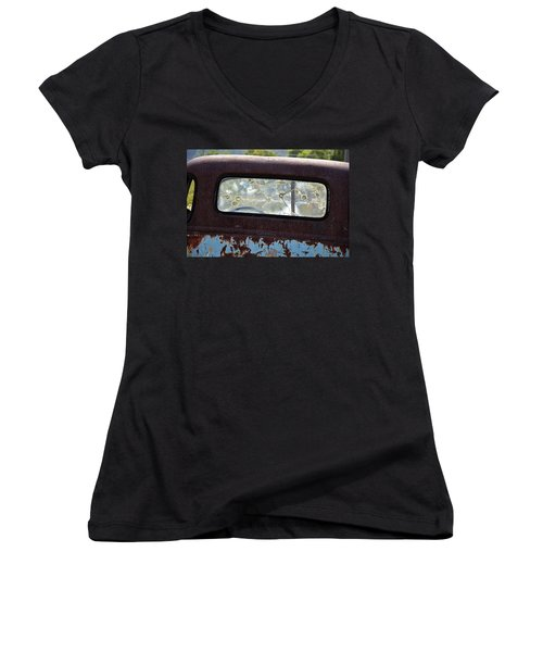 '48 Chevy Women's V-Neck T-Shirt
