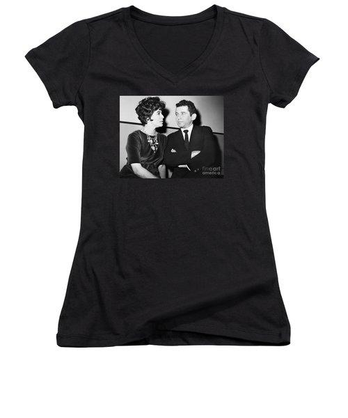 Norman Mailer (1923-2007) Women's V-Neck (Athletic Fit)