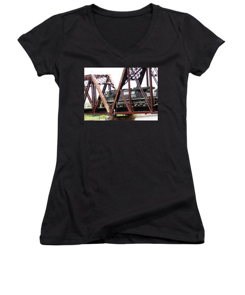 9215 Southern Cargo Train Women's V-Neck (Athletic Fit)