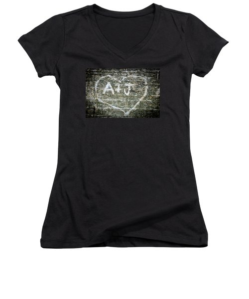 A And J Women's V-Neck T-Shirt