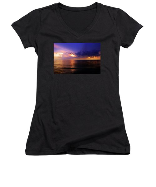 A Drop In The Ocean Women's V-Neck T-Shirt (Junior Cut) by Melanie Moraga
