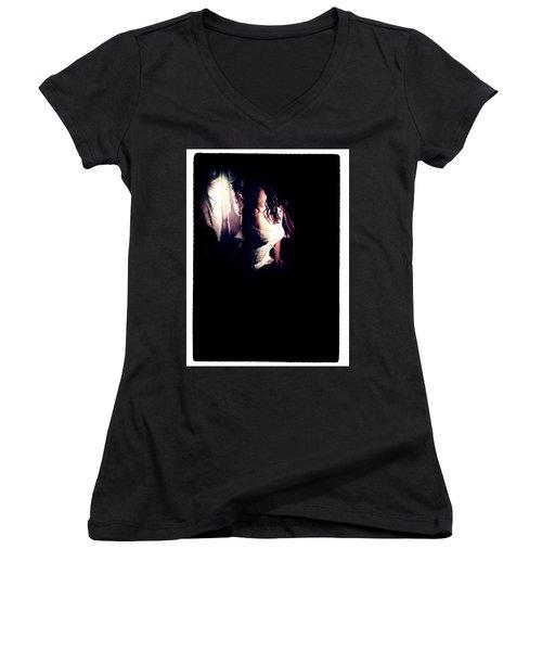A Taste Of Film Noir Fetish Women's V-Neck T-Shirt (Junior Cut) by Lon Casler Bixby