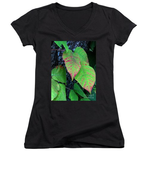 A Touch Of Autumn Women's V-Neck (Athletic Fit)