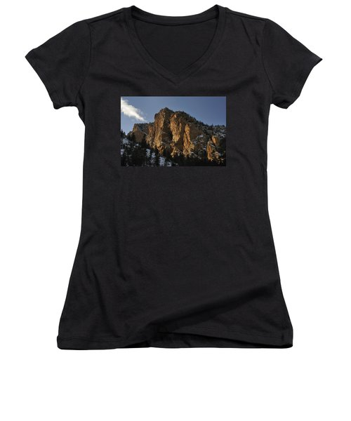Women's V-Neck featuring the photograph Above Red River I by Ron Cline