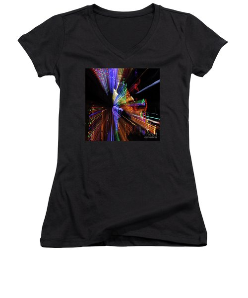 Abstract Lights Women's V-Neck T-Shirt
