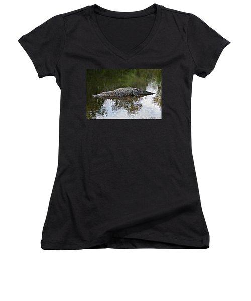 Alligator 1 Women's V-Neck T-Shirt