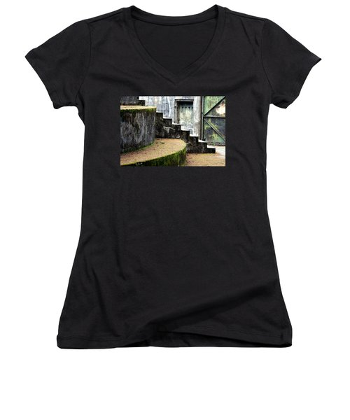 An Abandoned Fortress Women's V-Neck (Athletic Fit)