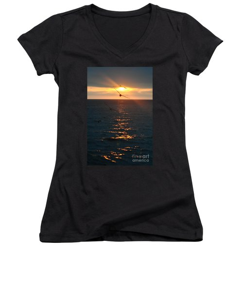 ...and At The End Of The Day... Women's V-Neck T-Shirt (Junior Cut) by Valerie Rosen