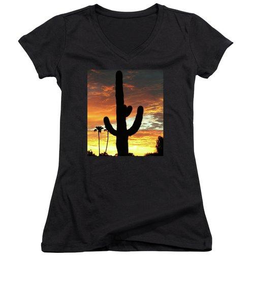Arizona Sunrise 01 Women's V-Neck (Athletic Fit)