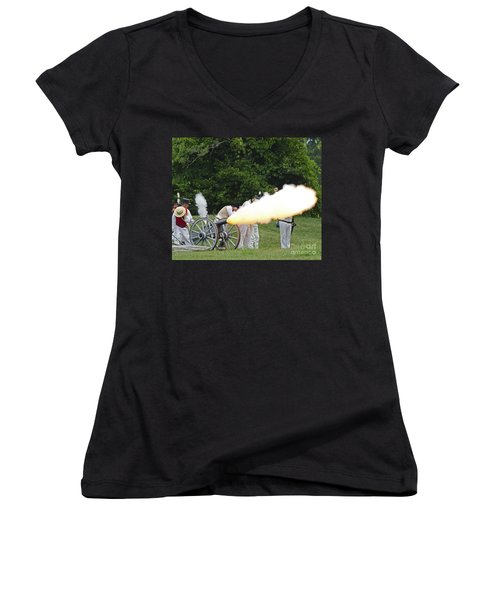 Artillery Demonstration Women's V-Neck T-Shirt