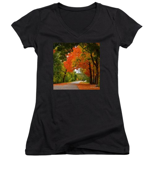 Autumn Canopy Women's V-Neck T-Shirt