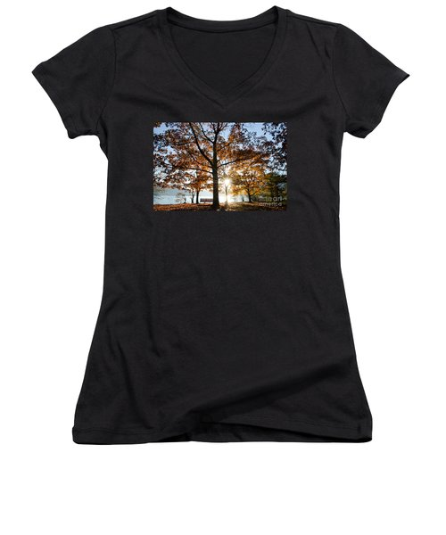 Autumn Trees Women's V-Neck